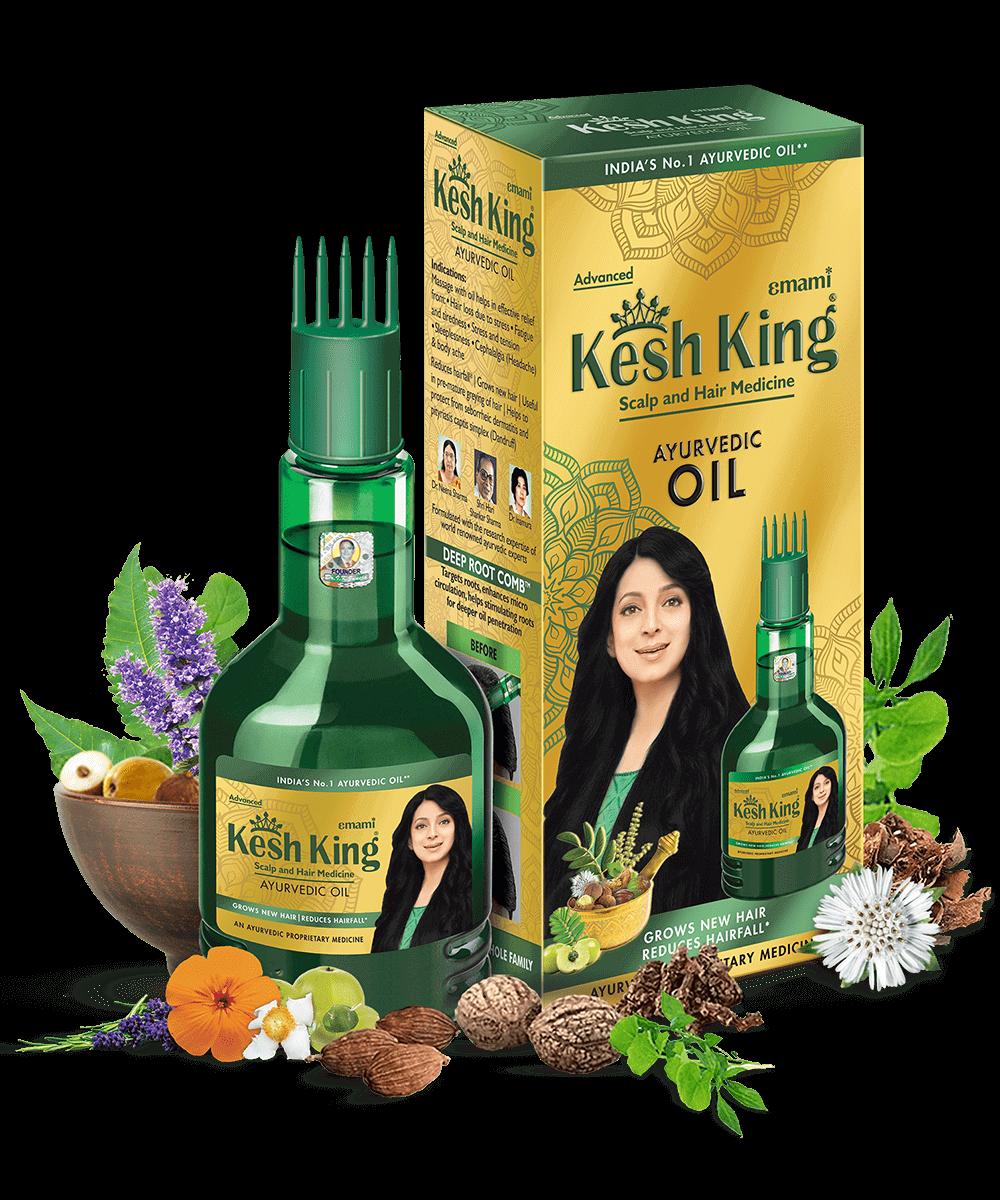 Kesh KingAyurvedic Medicinal Oil 100ml + Kesh King Anti-Hairfall Shampoo 200ml – Combo Pack