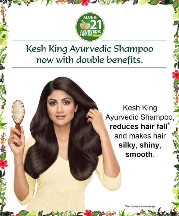 Kesh King ayurvedic Shampoo reduces Hair Fall