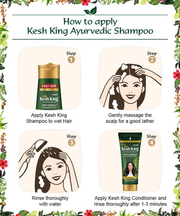 Steps to use Ayurvedic Shampoo