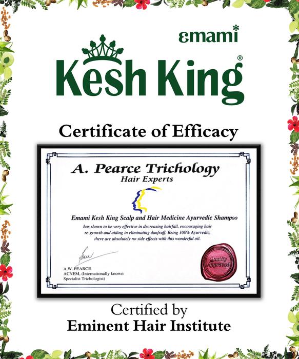 Kesh King Certificate by Eminent Hair Institute