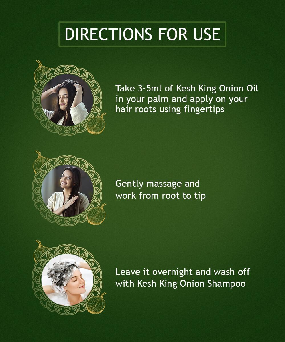 Kesh King Ayurvedic onion oil for hair growth