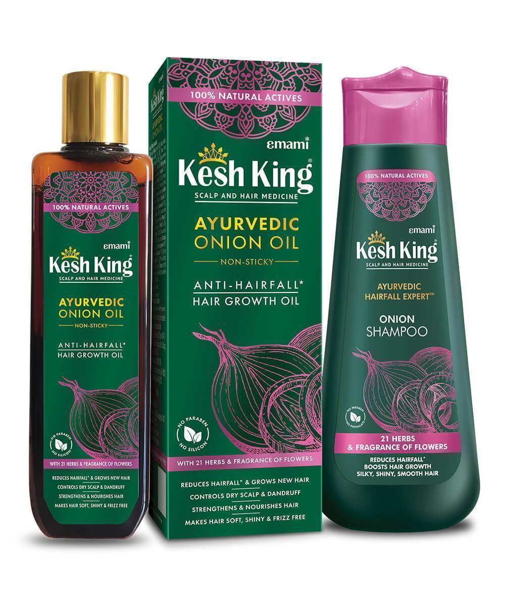 Kesh King onion oil shampoo combo